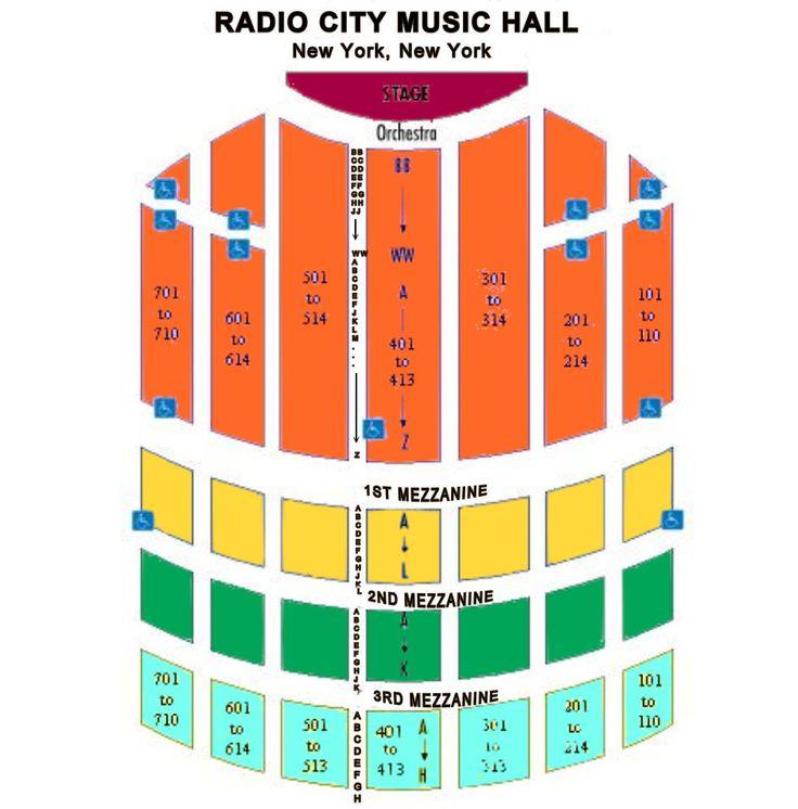 Best Seats For Christmas Spectacular Radio City Music Hall: Radio City Music Hall Seating Map At Slyspyder.com