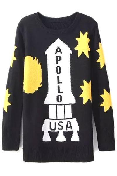 Apollo Print Long Sweater