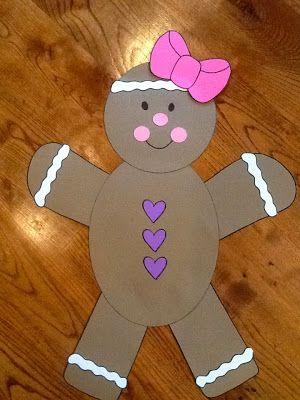 548 best gingerbread images on pinterest for Gingerbread crafts for kindergarten