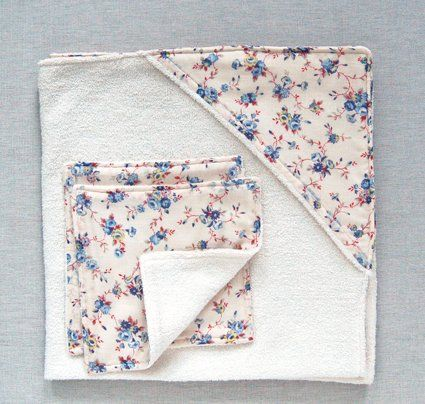 Hooded Baby Towel and Washcloth Set | Hooded baby towel ...