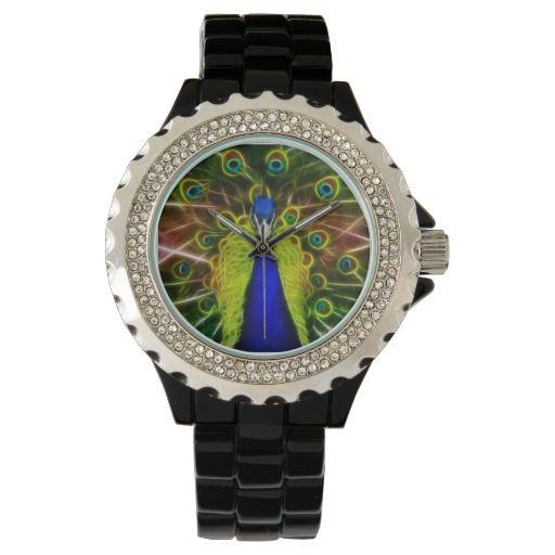 Peacock Dreamcatcher wrist watch