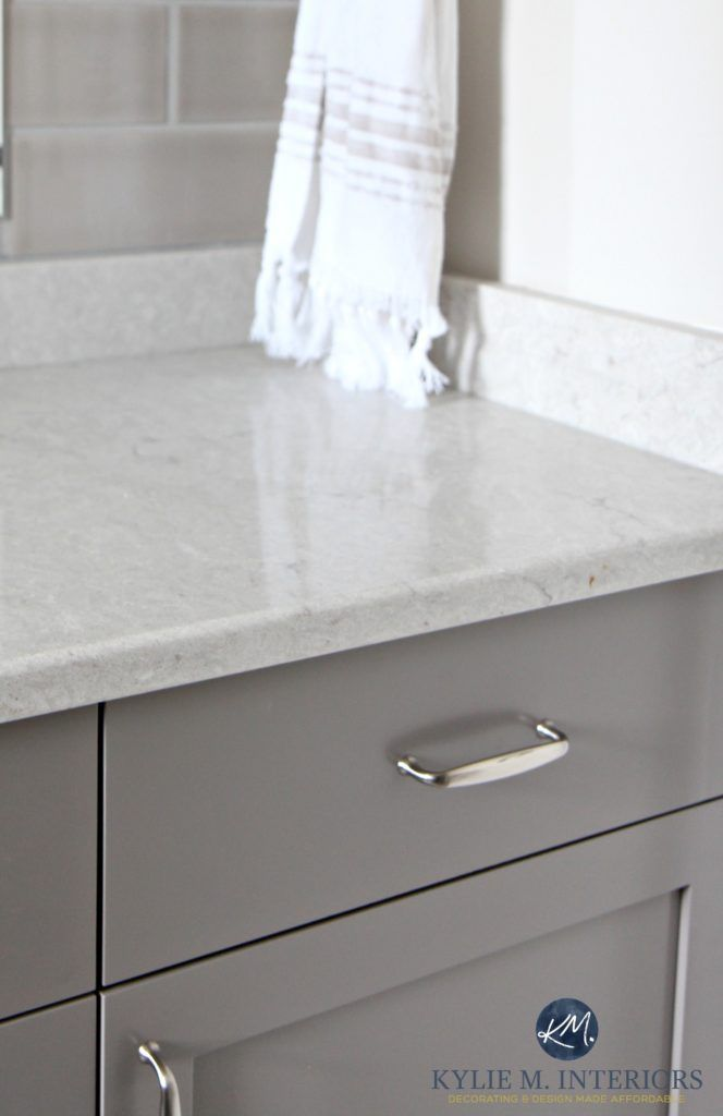 Caesarstone Bathroom Countertop Bianco Drift With Gray And Greige