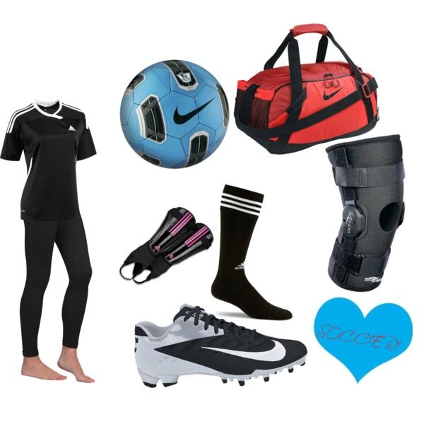 black soccer outfit for girls polyvore - Google Search