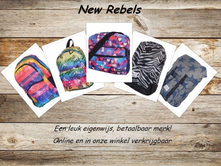 New Rebels, inderdaad een leuk, eigenwijs en betaaalbaar merk dat verkrijgbaar is in onze winkel en online.