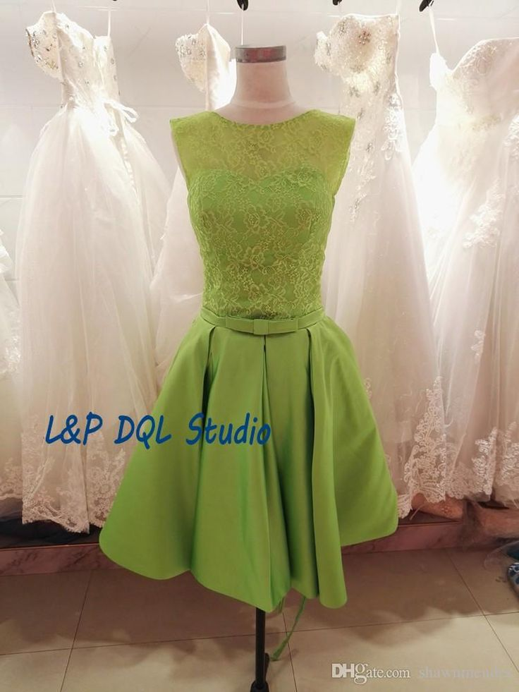 Green Bridesmaid Dresses With Pockets Satin With Lace Wedding Party Dresses 2017 Real Pictures Knee Length Bridesmaid Gowns Cheap Tangerine Bridesmaid Dresses Teal Bridesmaids Dresses From Shawnmendes, $82.71| Dhgate.Com