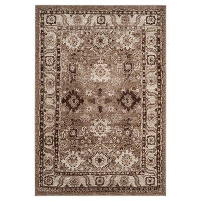 Taupe Botanical Tufted Area Rug 5 3 X7 6
