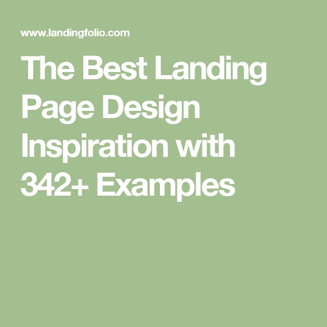 The Best Landing Page Design Inspiration with 342+ Examples