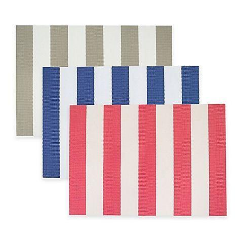 Cabana Stripe Woven Placemat