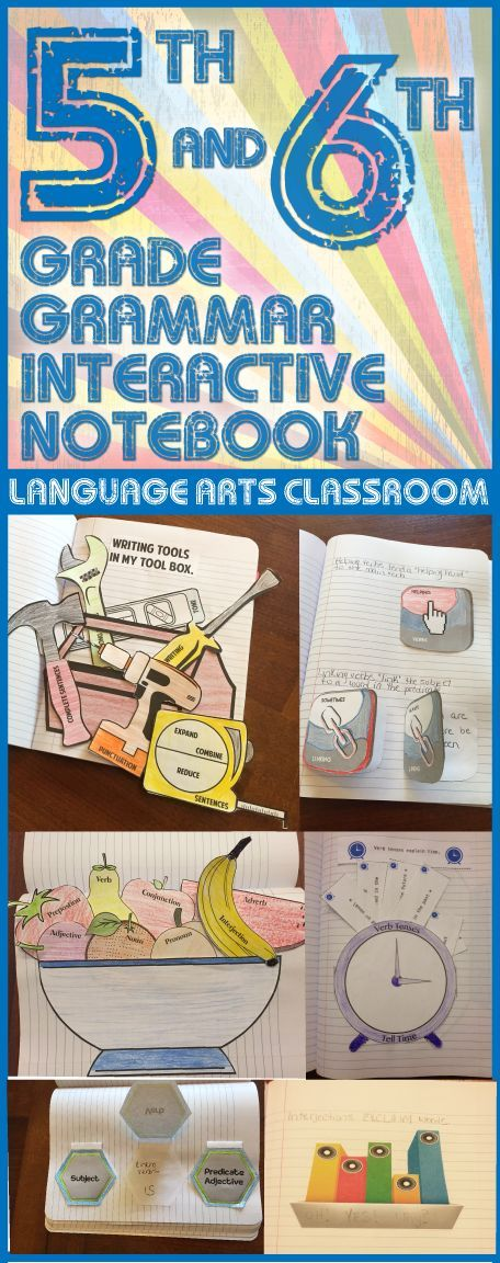 Interactive grammar notebook - parts of speech, parts of a sentence, verb tenses, helping and linking verbs, and writing tools.