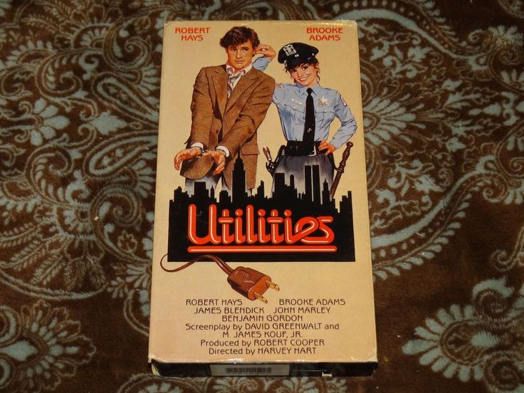 Utilities (VHS, 1985) OOP 1st Vestron Robert Hays/Brooke Adams Cop! *NOT ON DVD*