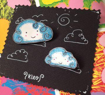 İki Bulut Broş