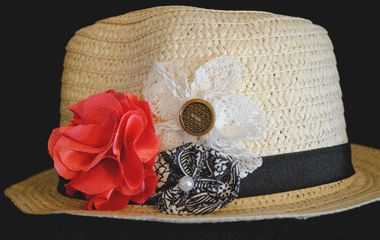 Check out All Things Crafty handmade fedora hats! hats003 $10.00 www.allthingscrafty-atc.com