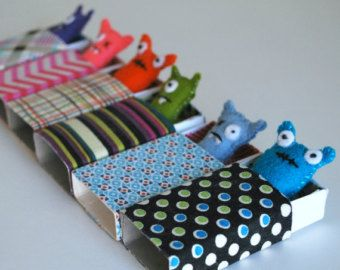 Periwinkle Matchbox Monster by beeperbebe on Etsy
