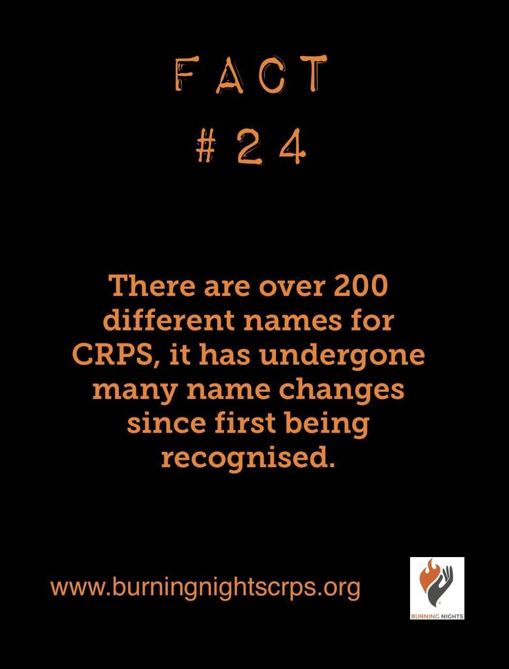 Fact 24 CRPS Awareness Month support and information - CRPS has over 200 names in the English language alone | Burning Nights CRPS Support charity www.burningnightscrps.org #crps #crpscharity #crpssupport #RSD #CRPS #CRPSInformation #crpsawareness #CRPSAwarenessMonth