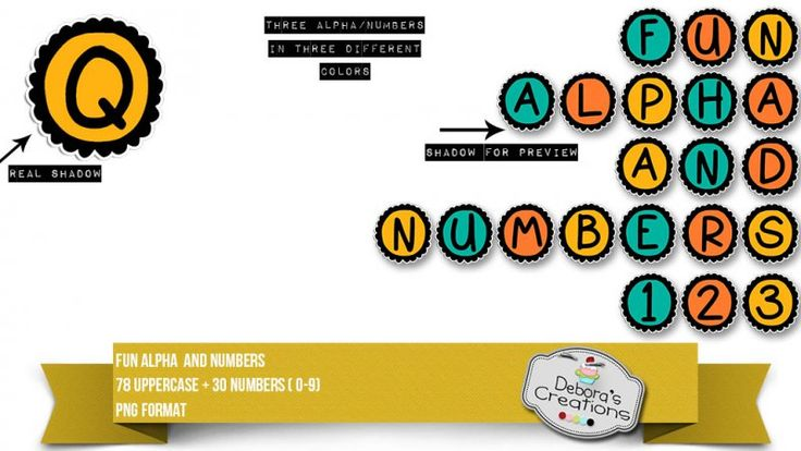Fun Alpha and Numbers by Debora's Creations (CU)