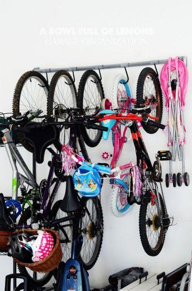 Garage Ideas   Bike Rack/storage. Then, Put It On A Pulley System