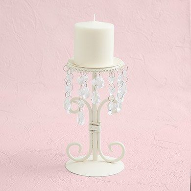 Cream and Crystal Candelabra
