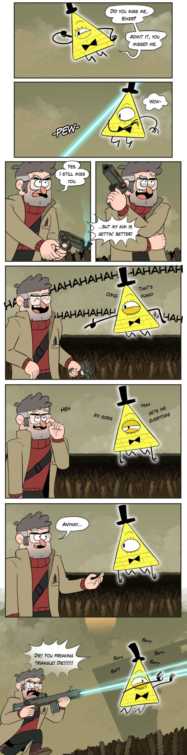 It's funny because Bill is terrible by markmak.deviantart.com on @DeviantArt