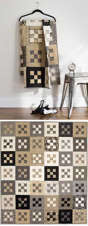 Nine patch quilt for men                                                                                                                                                                                 Mais