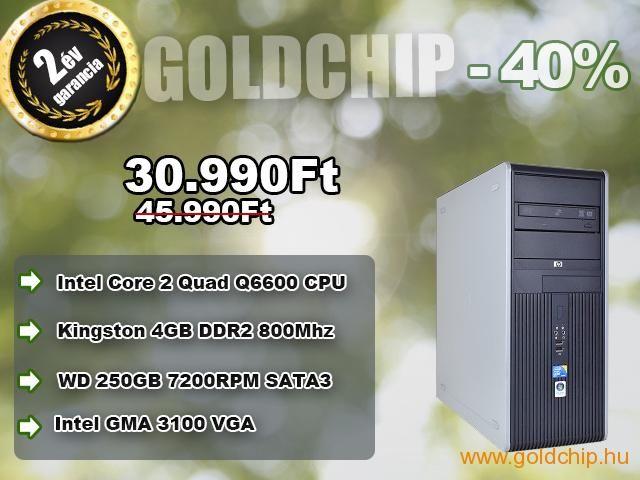40%-os akció és 2 év garancia? Igen! http://www.goldchip.hu/HP-Core-2-Quad-Q6600-CPU-4GB-DDR2-RAM-PC-d30895.htm