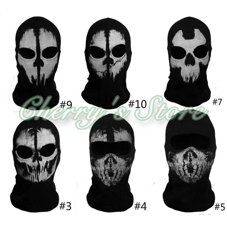 Balaclava Ghost Skull Face Mask Bike Skateboard Hood Call of Duty 10 Cos Costume #Unbranded