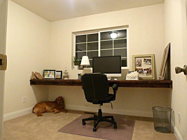 diy floating desk house organization pinterest. Black Bedroom Furniture Sets. Home Design Ideas