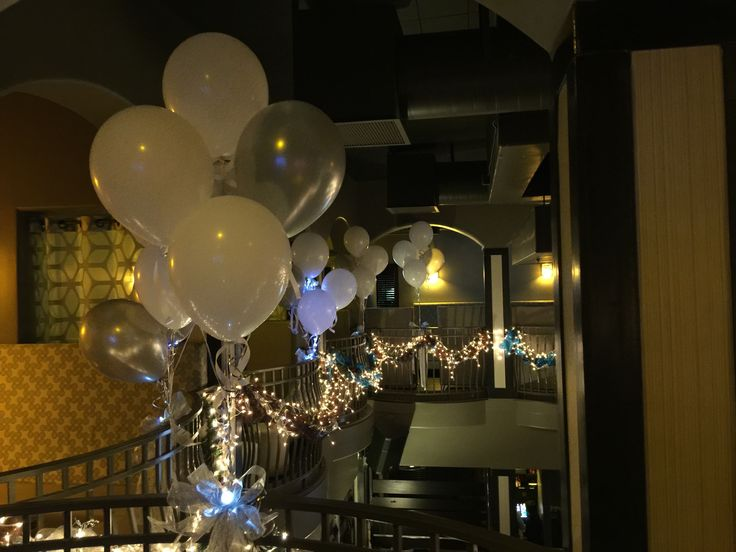 Decorating a restaurant with lit balloons balloon decor