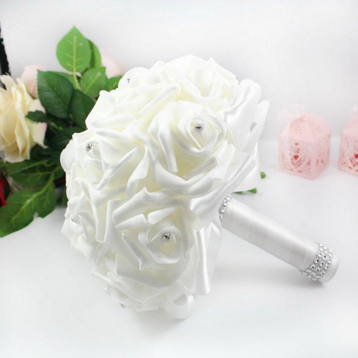 Wedding Bouquet di fiori, rose TTrees Crystal con fiori in bellissimi abiti da matrimonio, damigella d'onore, motivo: Bouquet di fiori artificiali in seta: Amazon.it: Casa e cucina