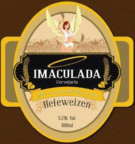 Cerveja Cerveja Imaculada Hefeweizen, estilo German Weizen, produzida por Cervejaria Imaculada, Brasil. 5.2% ABV de álcool.