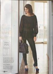 PATRONES №297 FIESTA 2010 октябрь Модель 9. Узкие черные брюки