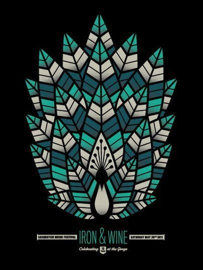 Iron  Wine music gig poster | Concert Posters: Cool Art from Sasquatch! Festival | Apartment Therapy