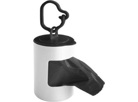 Dispensador de plástico para bolsas de basura, con mosquetón. #promopresent #regalosdeempresa