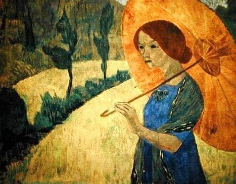 Paul Serusier (French Painter, 1863-1927) Madame Serusier with a Parasol 1912