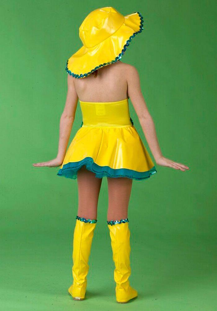 yellow vinyl raincoats for kids | ... TRUE Singing in The Rain Yellow Dance Pageant Costume Child Medium