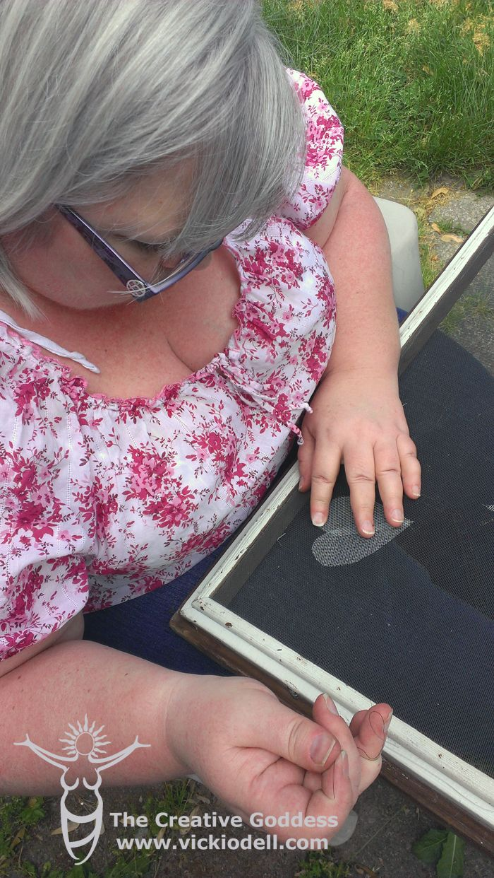 Frugal and Funky Window Screen Repair ~ fantastic patch.  I'd do it even if I didn't have a tear.