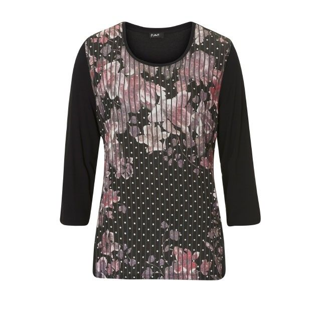 Betty Barclay Floral Patterned Top Black