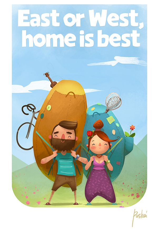 East or West, home is best! on Behance ★ Find more at http://www.pinterest.com/competing/