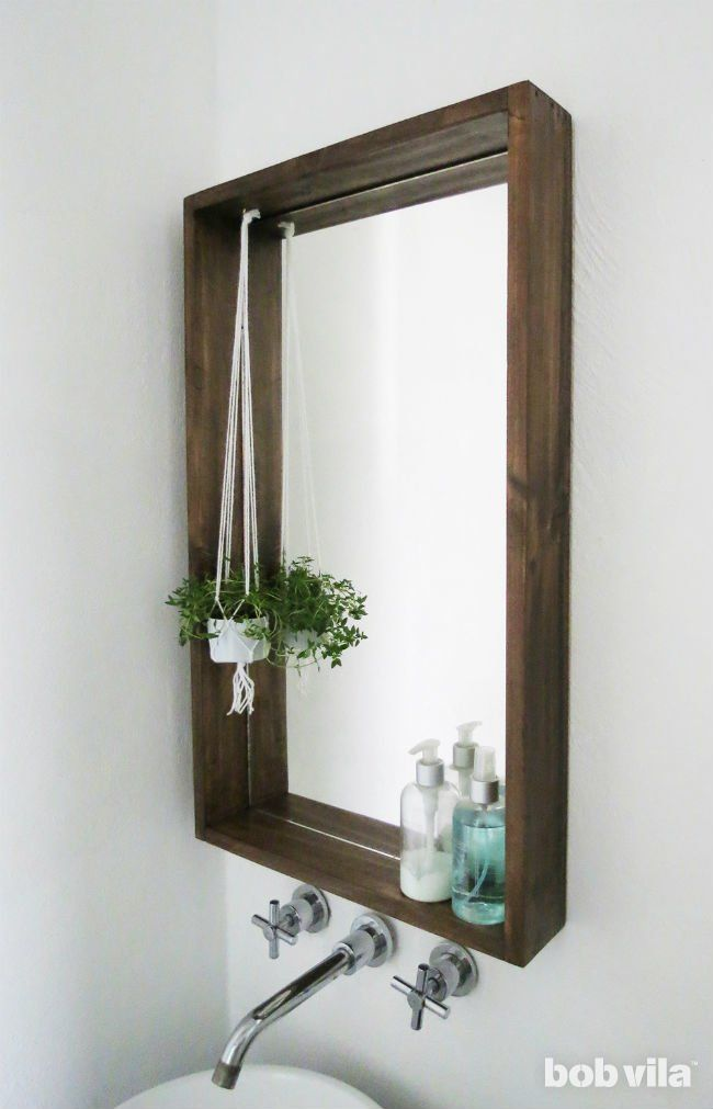 How To Frame A Bathroom Mirror Mirror Frame Diy Bathroom