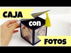 Caja para regalo,cubo con fotos,regalo para graduación fácil,original. - YouTube