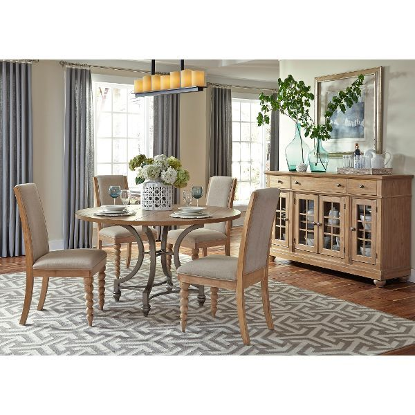 Harbor View Sand Contemporary 5 Piece Dining Set
