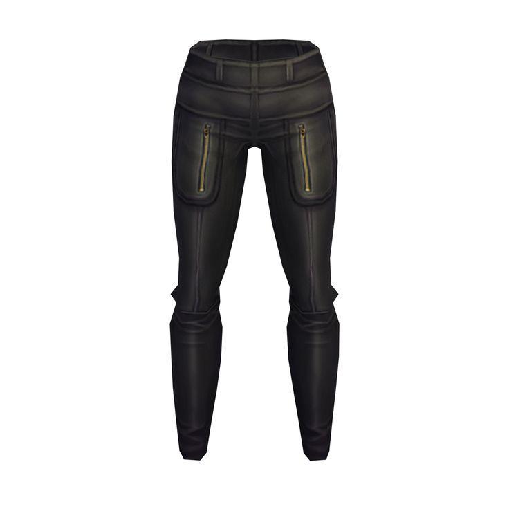Jorvik pants elastic pants with zipper