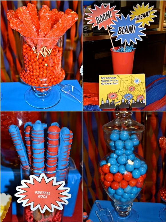 25 best ideas about spider man party on pinterest for Spiderman decorations
