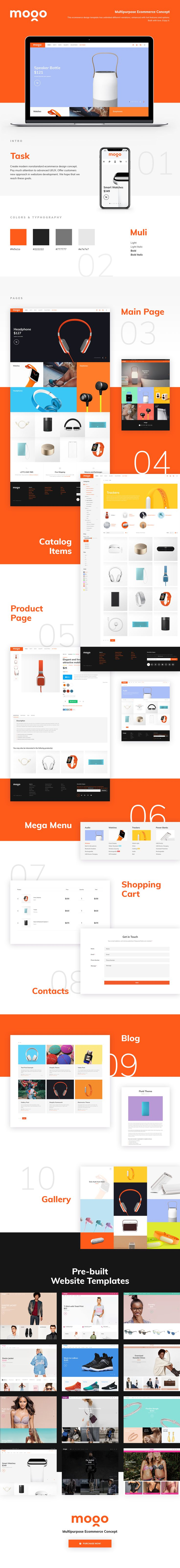 MOGO is premium eCommerce template for clothing, electronics, apparel, fashion stores.