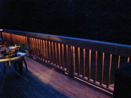 Rope Lights under Railing Patio Deck Backyard Pinterest
