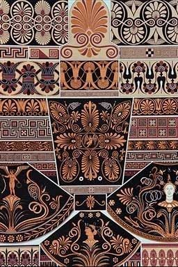 ancient greek pottery patterns   Greek Education and Culture