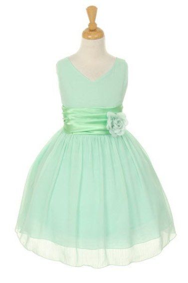 light mint green flower girl dress w | Flower girl dress, by Theprincessandthebou on etsy.com