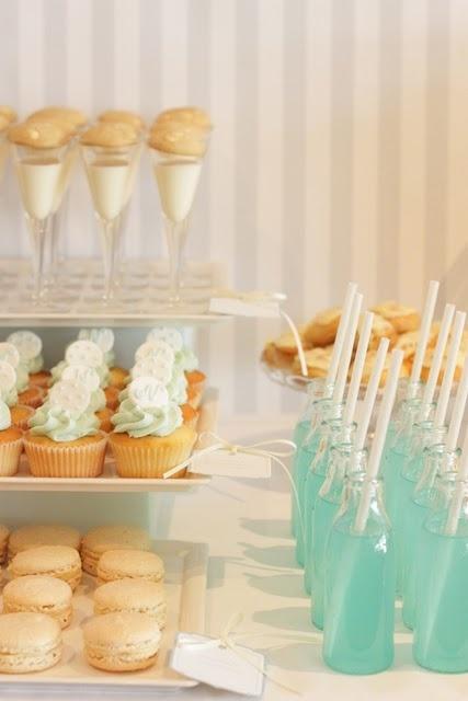 .: Shower Ideas, Desserts Bar, Bridal Shower, Milk Bottle, Blue Drinks, Parties Ideas, Milk And Cookies, Desserts Tables, Baby Shower