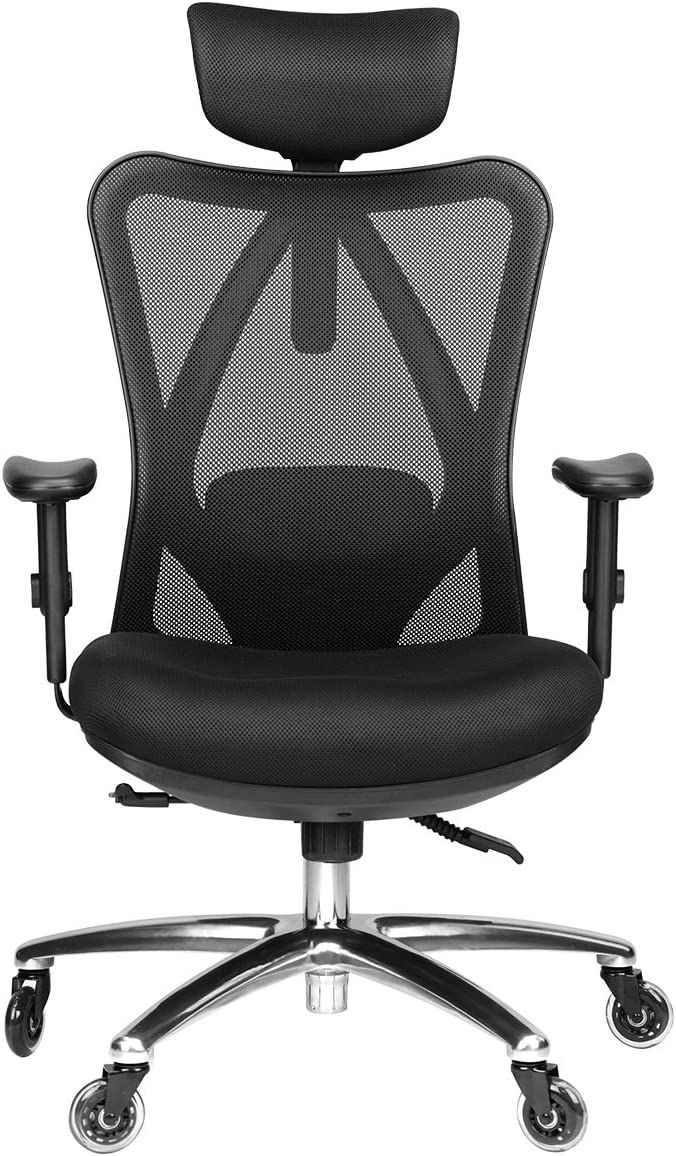 Duramont Ergonomic Adjustable Office Chair With Lumbar Support And Rollerblade Wheels High Back In 2020 Office Chair Adjustable Office Chair Best Office Chair