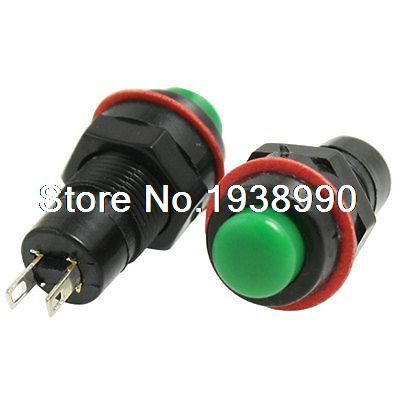 20pcs SPST OFF/(ON) Green Momentary Push Button Switch N/O AC 250V/1A #Affiliate
