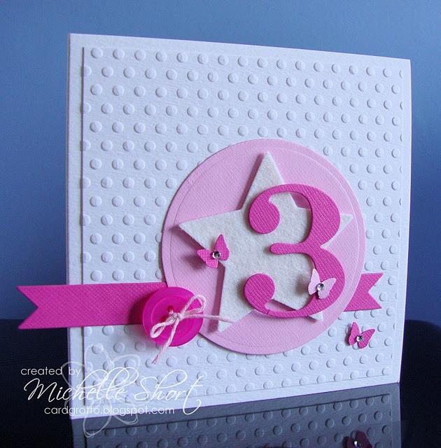 cute for a little girl {card}